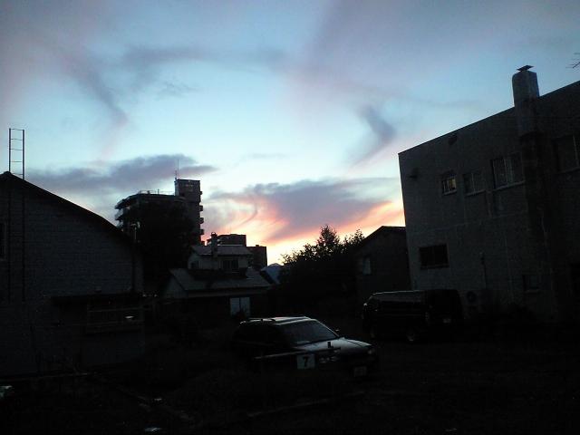 秋空の夕焼け